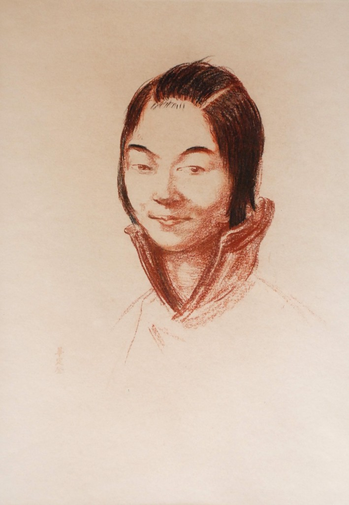 Chinese Girl, Chalk, 1910